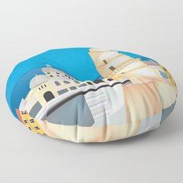 Marseille, France - Skyline Illustration by Loose Petals Floor Pillow