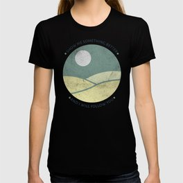 Inspirational round print with landscape T-shirt