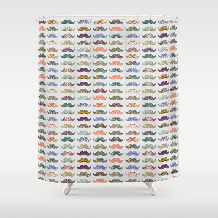 Mustache Mania Shower Curtain
