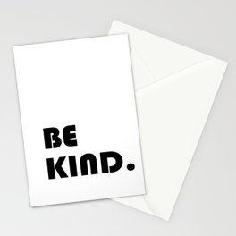 etre gentil ,Be kind Print quote for living room Stationery Cards