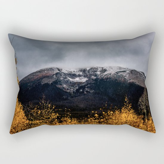 Yellow Tree Moutain Rectangular Pillow