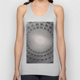 The Pantheon dome, architectural photography, Michael Kenna style, Rome photo Unisex Tank Top