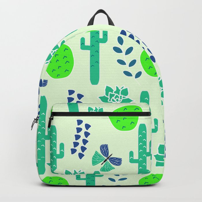 Cacti and butterflies Backpack