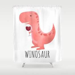 Winosaur Shower Curtain