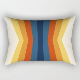 Bright 70's Retro Stripes Reflection Rectangular Pillow