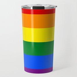 LGBTQA+ Rainbow Flag Travel Mug