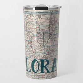 Colorado Map Travel Mug