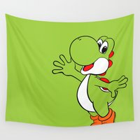 yoshi Wall Tapestries featuring Yoshi Colour by carcar2110