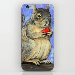 Cheeky Squirrel iPhone Skin