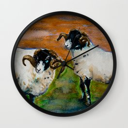The Rams of Lastingham Wall Clock