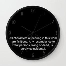 Disclaimer Wall Clock