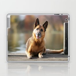 German Shepherd enjoys the Indian Summer Laptop & iPad Skin