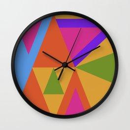 Triangle Rainbow Wall Clock