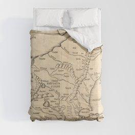 Vintage Map Print - 1525 Map of Eastern Europe Comforters