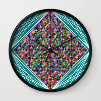 knit Wall Clocks featuring Diamond Knit by Glanoramay
