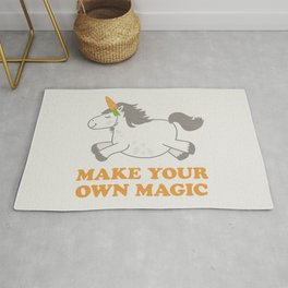Make Your Own Magic - Pony Turned Unicorn Rug