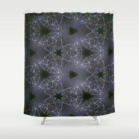 constellations Shower Curtains featuring constellations by monicamarcov