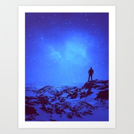 Lost the Moon While Counting Stars III Art Print