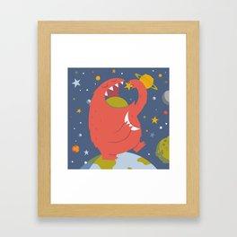 Star Eating Monster Framed Art Print
