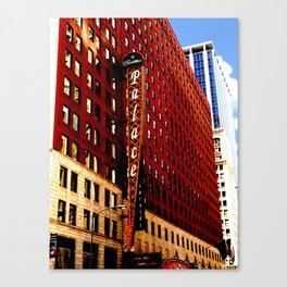 Downtown Chicago - Cadillac Palace Theatre facade  Canvas Print