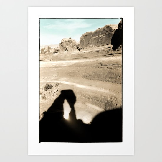 Delicate Arch shadow Art Print