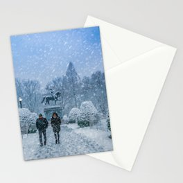 Snow in Boston Stationery Cards