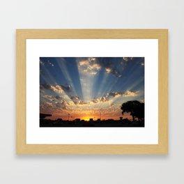 Texas Sunset Framed Art Print