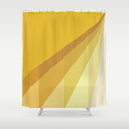 New Heights - Gold Shower Curtain