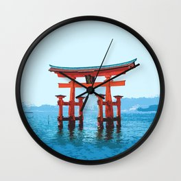 Japan - 'In The Middle Of The Sea' Wall Clock