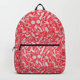 NSFW Red Kinky S&M Pattern Backpack