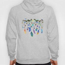 Folkestone Feather, Crystal And Butterfly Spirit Gazer Hoody