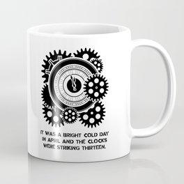 George Orwell - 1984 - Clock Striking 13 Coffee Mug