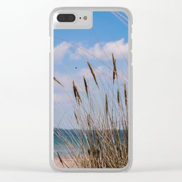 walk by the beach Clear iPhone Case