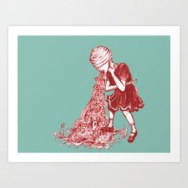 Floral Vomit Art Print