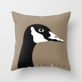 Canadian Goose on Taupe 1 Throw Pillow
