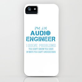 AUDIO ENGINEER iPhone Case