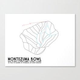 Arapahoe Basin, CO - Montezuma Bowl - Minimalist Trail Map Canvas Print