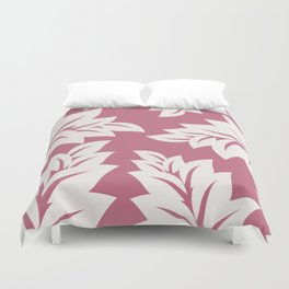 tropical pink leaves Duvet Cover