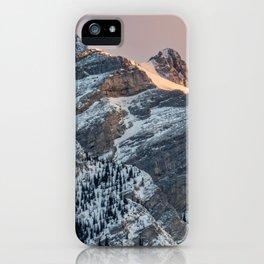 Lake Minnewanka Mountain Top iPhone Case