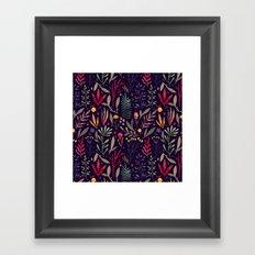 Botanical pattern Framed Art Print