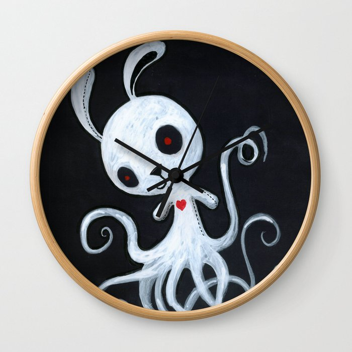 bunnnypus in the dark Wall Clock
