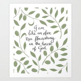 Psalm 52 Art Print