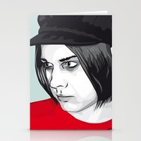 jack white Stationery Cards featuring JACK WHITE by Nuk_