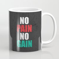 fitness Mugs featuring Lab No. 4 - Fitness Motivation Inspirational Gym Quotes Poster by Lab No. 4