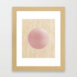 Rosegold moon Framed Art Print