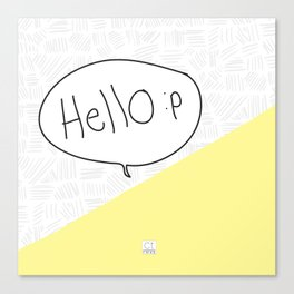 Hello :p Canvas Print