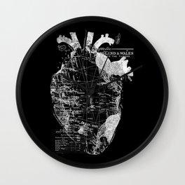 Heart Wanderlust Wall Clock