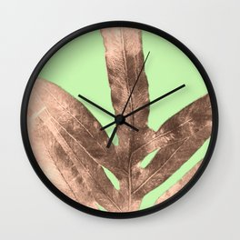 Antique Sepia Fall Green Wall Clock