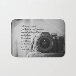 Life is Like a Camera Bath Mat
