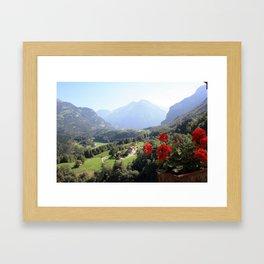 Postcard from Switzerland Framed Art Print